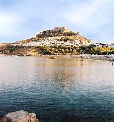 Lindos acropolis wedding